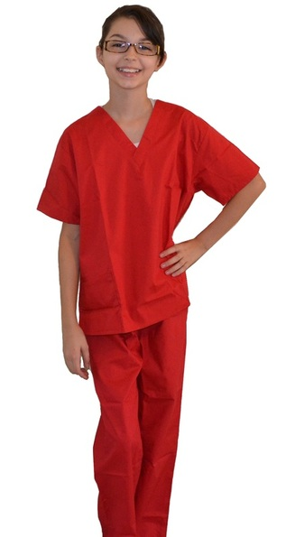 Red Kids Scrubs