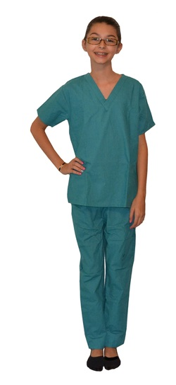 Clearance Teal Green Kids Scrubs