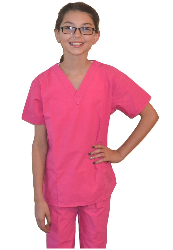 15c20a87433 Pink Kids Scrubs - Kids Scrubs and Childrens Lab Coats