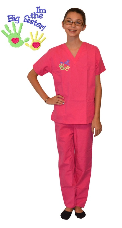 53cce757215 Big Sister Scrubs - Kids Scrubs - Kids Scrubs and Childrens Lab Coats