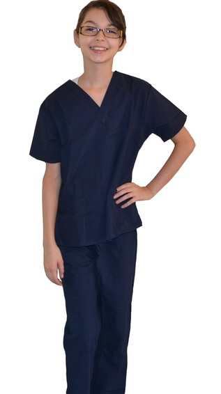 Navy Blue Kids Scrubs