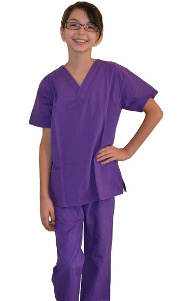 Purple Kids Scrubs