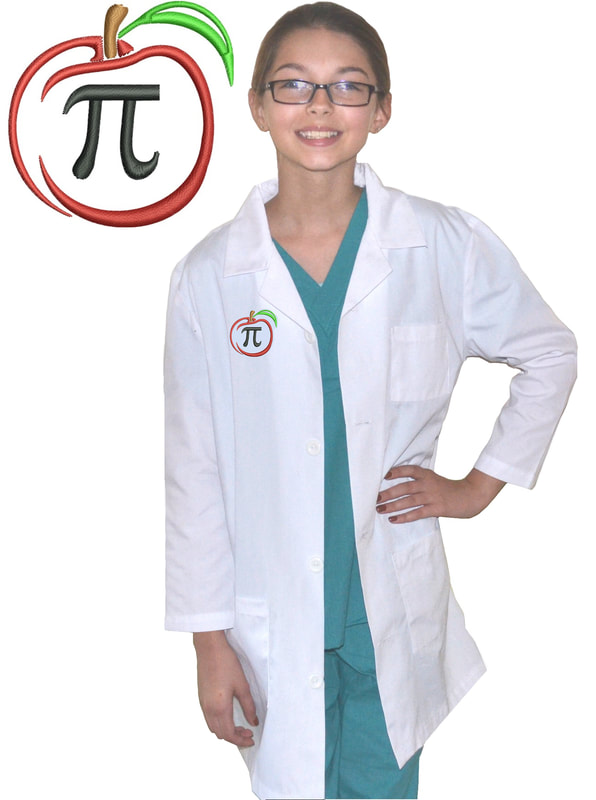 Kids Math Lab Coat Apple Pi
