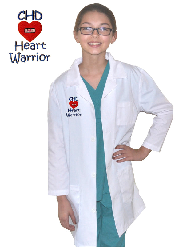 Kids Lab Coat with CHD Heart WarriorEmbroidery  Design